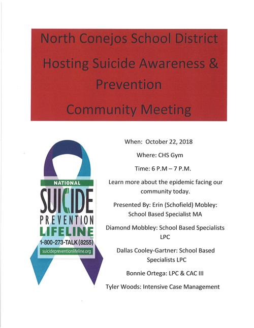SUICIDE AWARENESS MEETING